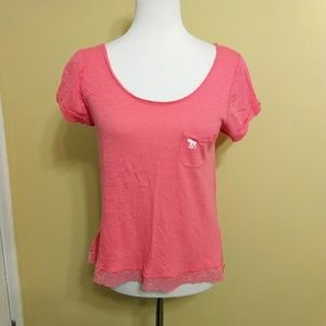 Abercrombie & Fitch lace top shirt sz med *H